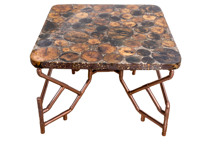 Petrified Cherry Tree Decorative Wine Table Cover